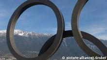 Olympische Ringe am Bergisel (picture-alliance/J.Gruber)