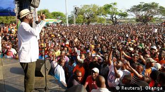Kenia Raila Odinga bei Kundgebung in Mombasa
