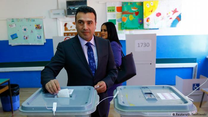 Mazedonien Kommunalwahlen Sieg der Regierungspartei SDSM (Reuters/O. Teofilovski)