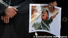 Iran Protest gegen Trump in Tehran