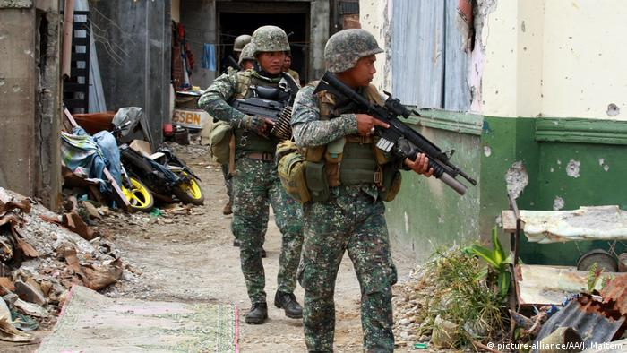 Philippine soliders in Marawi