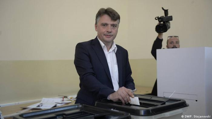 Mazedonien Kommunalwahlen Petre Shilegov neuer Bürgermeister von Skopje (DW/P. Stojanovski)