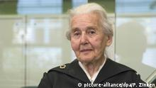 Ursula Haverbeck appearing in court (picture-alliance/dpa/P. Zinken)