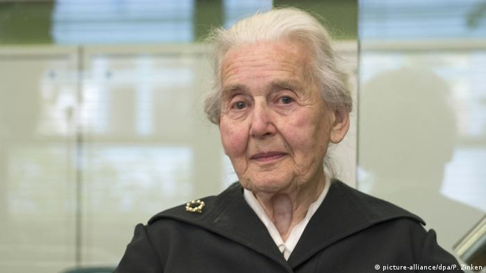 Ursula Haverbeck appearing in court