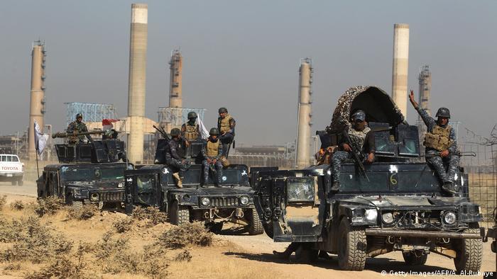 Irak Kirkuk Regierungstruppen im Kurdengebiet (Getty Images/AFP/A. Al-Rubaye)