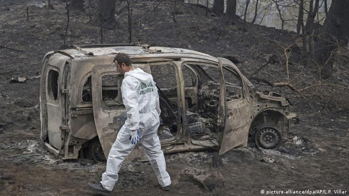 Wildfire destruction in Spain