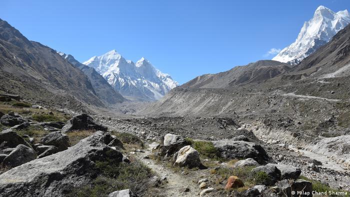 The Gangotri glacier