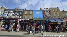 bunte Fassaden, Camden Market, Camden Town, London, England, Grossbritanien Foto: Eibner   Verwendung weltweit