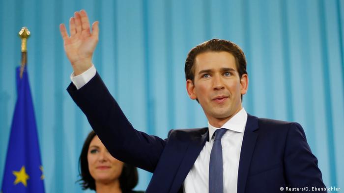 Österreich Sebastian Kurz nach der Wahl in Wien (Foto: Reuters/D. Ebenbichler )