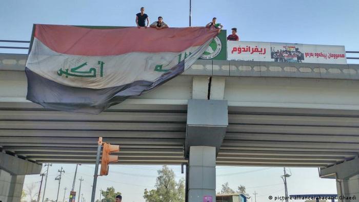Irak Kirkuk Regierungstruppen übernehmen die Stadt (picture-alliance/abaca/H. Ghaedi)