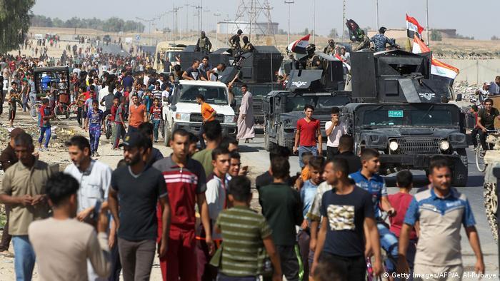 Irak Kirkuk Regierungstruppen übernehmen die Stadt (Getty Images/AFP/A. Al-Rubaye)