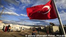 Türkische Flagge in Flüchtlingslager