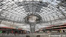 China Baustelle Flughafen Peking Daxing