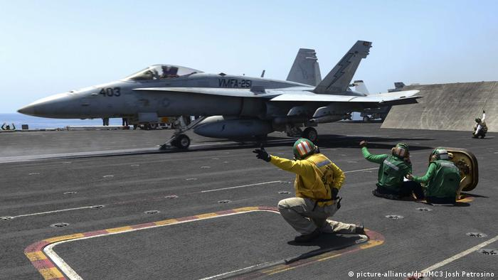 F/A-18C Hornet fighter jet (picture-alliance/dpa/MC3 Josh Petrosino)