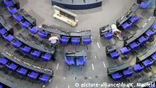 Deutschland Plenarsaal des Bundestages wird umgebaut