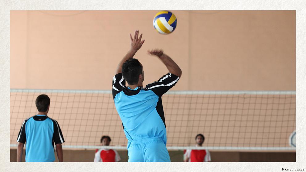 Deutschkurse | Wortschatz | WBS_Foto_Volleyballtraining