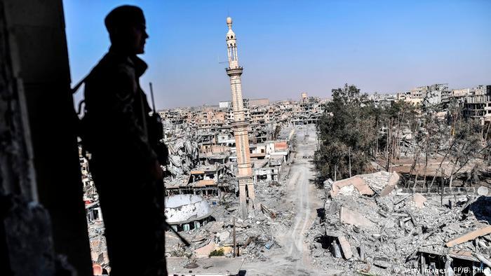 Rakka'dan 16 Ekim tarihli bir fotoğraf kentteki yıkımın boyutunu gözler önüne seriyor.
