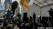 Mikheil Saakaschwili (Politiker) Ukraine, Kiev, Kyjiw, Proteste, Saakaschwili, Saakashvili, Shabunin, Reformen, Korruption, Präsident, Poroschenko DW, Oleksandr Sawitzki