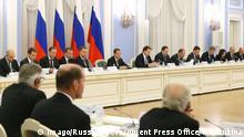 Russland Moskau - Dmitry Medvedev beim treffen des ausländischen Investorenrats (Foreign Investment Advisory Counci)