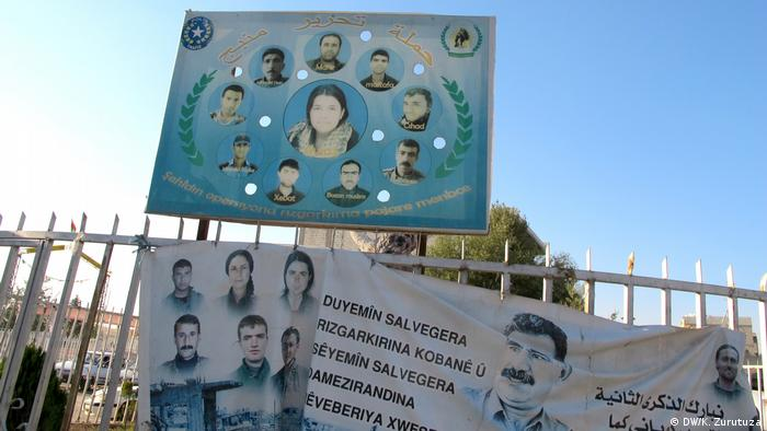 Kobani's dead fighters appear on billboard in downtown Kobani