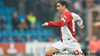 Former Cottbus player Ervin Skela