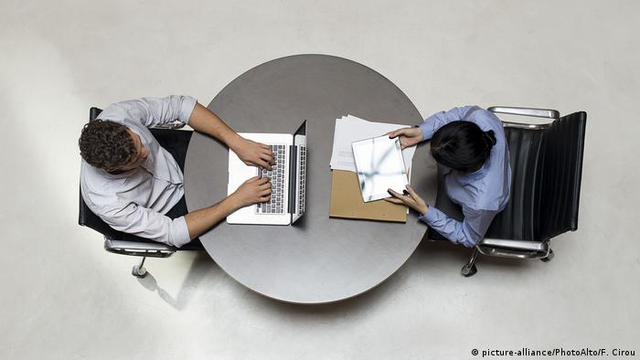Symbolbild - Shared Office (picture-alliance/PhotoAlto/F. Cirou)