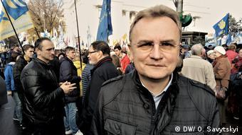 Lviv Mayor Andriy Sadovyi (DW/ O. Savytskyi)