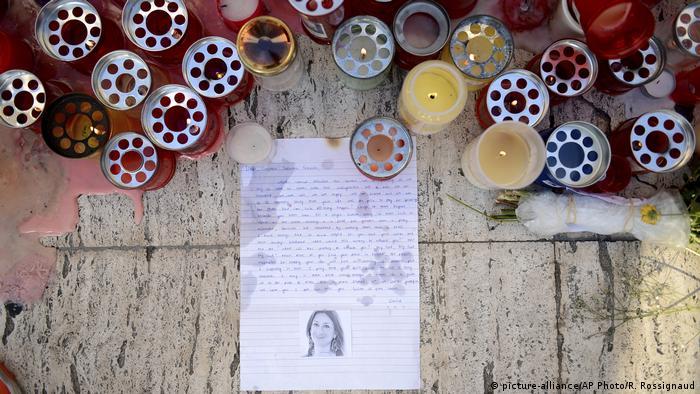 Malta St Julian - Trauer um ermordete Journalistin Daphne Caruana Galizia