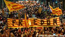 Spanien Barcelona Demonstration gegen Inhaftierung