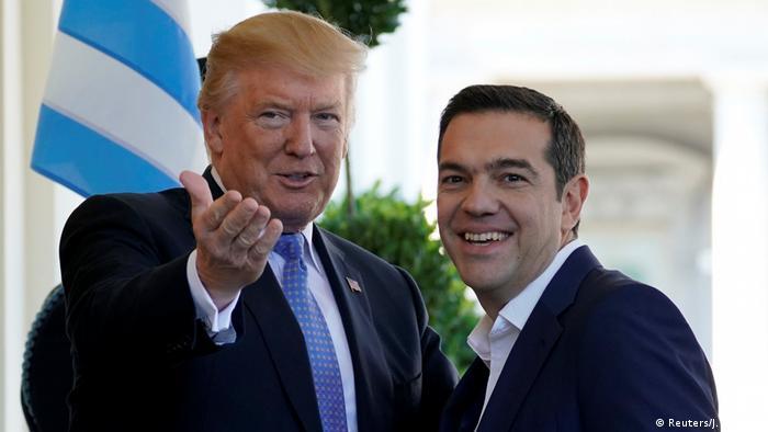 USA Washington Donald Trump trifft Alexis Tsipras (Reuters/J. Roberts)