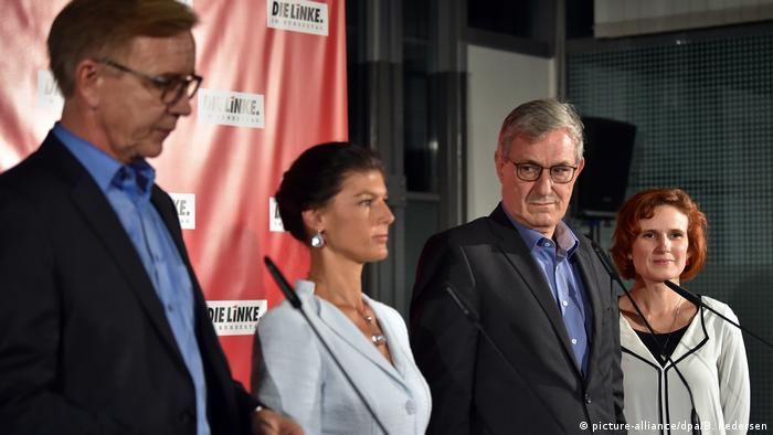 Sahra Wagenknecht among Left party leaders (picture-alliance/dpa/B. Pedersen)