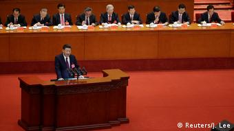 President Xi Jinping making his opening speech