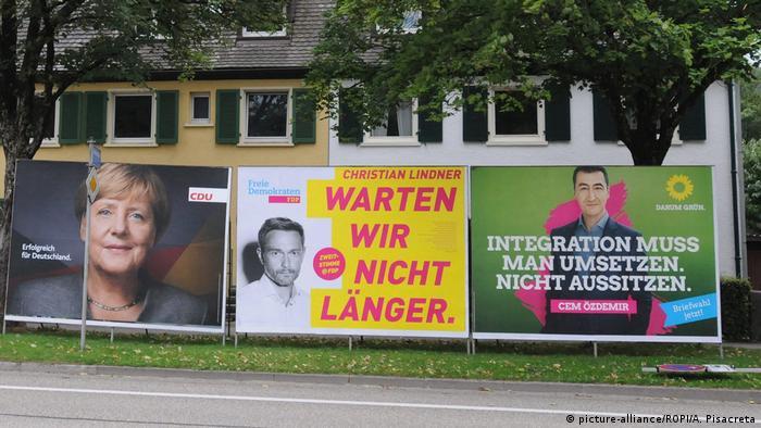 Deutschland Bundestagswahl 2017 Wahlplakate