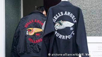 Police takes out two jackets with Hells Angels' symbols