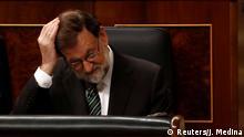 Spanien Mariano Rajoy im Parlament