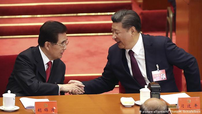 China Peking Kommunistischer Parteitag Xi Jinping (picture-alliance/AP Photo/M. Schiefelbein)