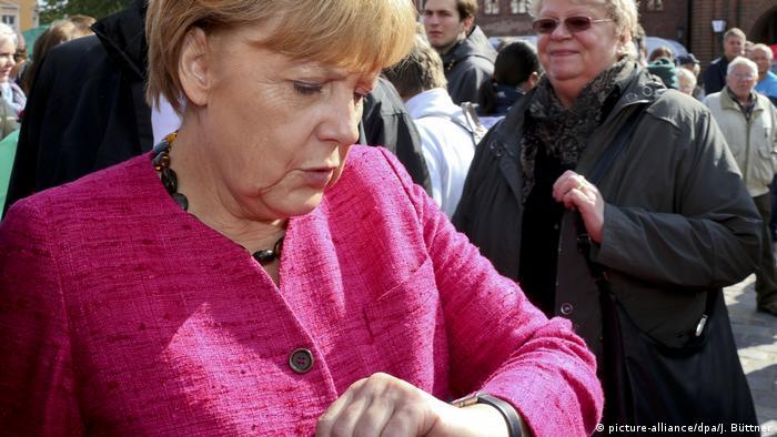 Deutschland Merkel bei Wahlkampfabschluss (picture-alliance/dpa/J. Büttner)