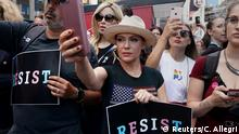 USA Schauspielerin Alyssa Milano Protest in New York City