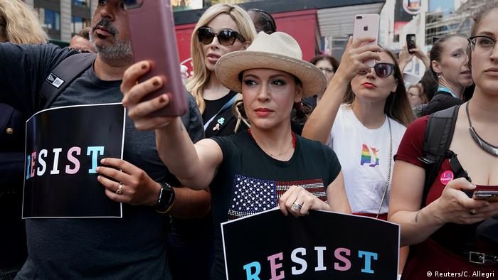 USA Schauspielerin Alyssa Milano Protest in New York City (Reuters/C. Allegri)