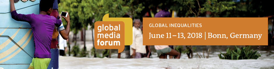 Headerbanner für die Webseite des Global Media Forum 2018, GMF