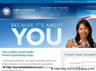 这个网站叫 http://my.barackobama.com