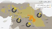Infografik Karte Kurdische Siedlungsgebiete ARA
