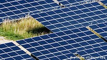 A solar panel array in Germany