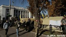 Ukraine Protest der Opposition vor dem Parlament