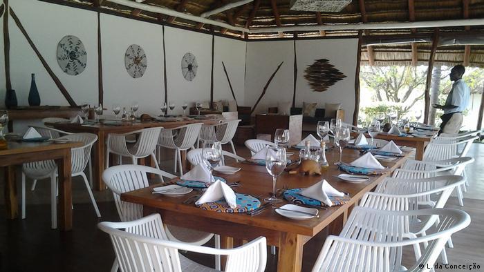 Mosambik Leere Restaurants, Vilankulo (L. da Conceição)