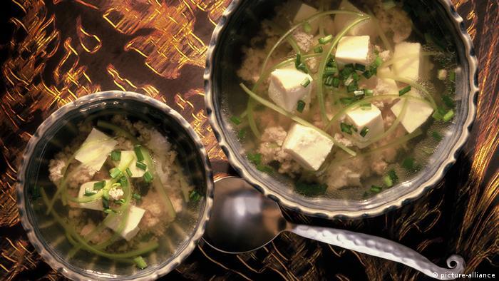 حساء مكون من عناصر نباتية