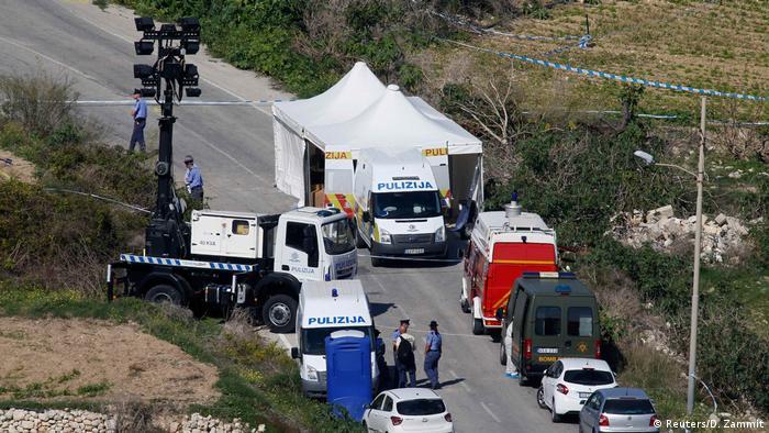 Malta investigative Journalistin Daphne Caruana Galizia in Bidnija tötete