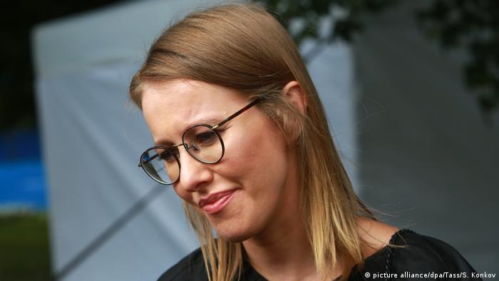 Sobchak in glasses in 2017