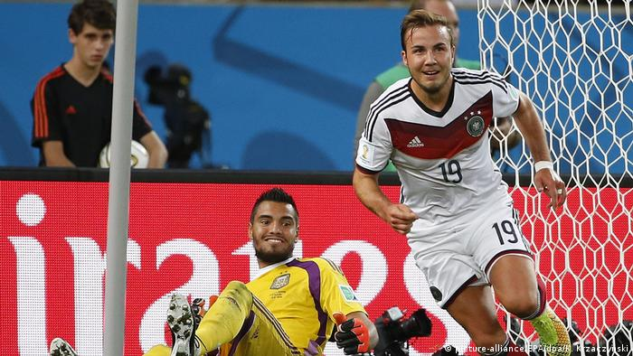 Mario Gece, nakon pogotka koji je Nemačkoj 2014. doneo titulu svetskog prvaka