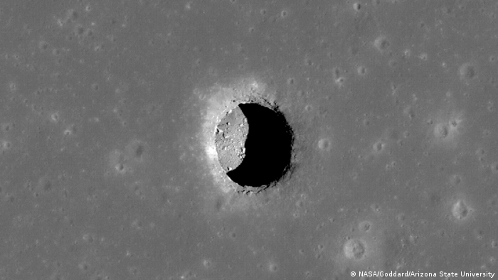 O túnel subterrâneo ajudaria a proteger astronautas de grandes variações climáticas da Lua e radiações prejudiciais